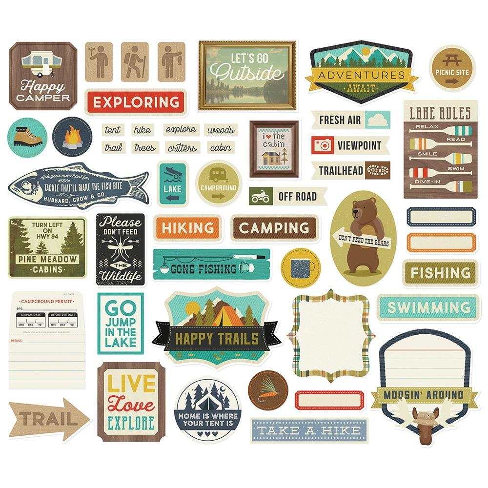 Simple Stories - Happy Trails -  Tags & Frames Die-Cuts 48 pack