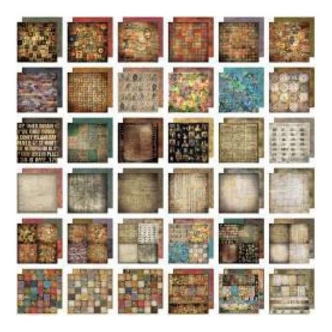 Tim Holtz Idea-Ology Paper Stash Paper Pad 12x12 inch 36 Pack - Lost & Found