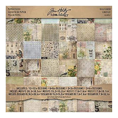 Idea-Ology Paper Stash D/Sided Paper Pad 12x12 inch 36 Pack - Wallflower