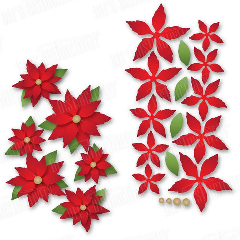 Dees Distinctively Dies - Mini Poinsettias