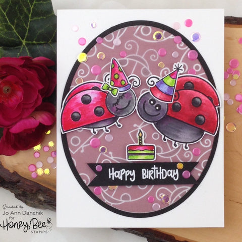 Honey Bee 4x6 inch Stamp Set - Love Bug