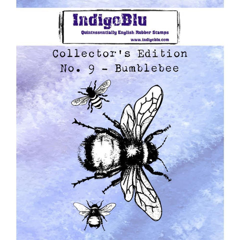 IndigoBlu Collectors Edition Cling Mounted Stamp 2x2 inch - #9 Bee
