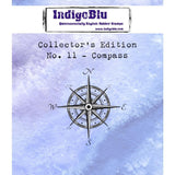 IndigoBlu Collectors Edition Cling Mounted Stamp 2x2 inch - #11 Compass