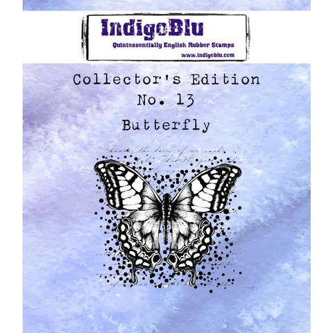 IndigoBlu Collectors Edition Cling Mounted Stamp 2x2 inch - #13 Butterfly