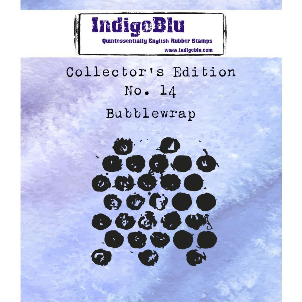 IndigoBlu Collectors Edition Cling Mounted Stamp 2x2 inch - #14 Bubblewrap