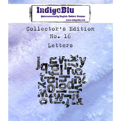 IndigoBlu Collectors Edition Cling Mounted Stamp 2x2 inch - #16 Letters