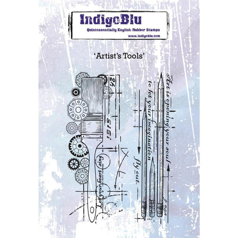 IndigoBlu Cling Mounted Stamp 5x4 inch - Artists Tools
