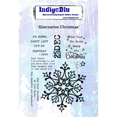 IndigoBlu Cling Mounted Stamp 5x4 inch - Alternative Christmas