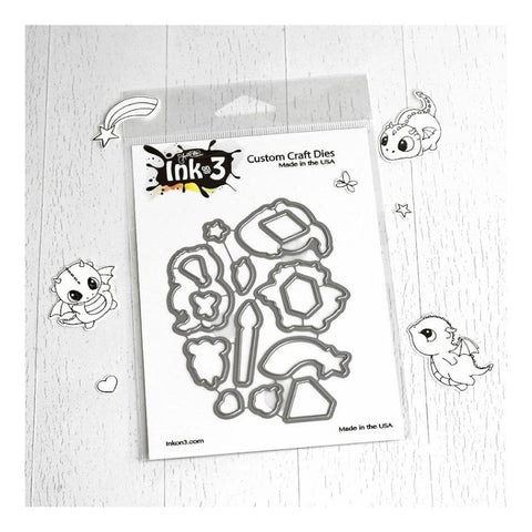 Ink On 3 - Magic Dragons Coordinating Die Cuts