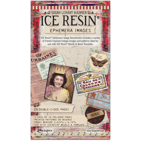 Ice Resin Ephemera Image Assortment - 20 Sheets Double Sided
