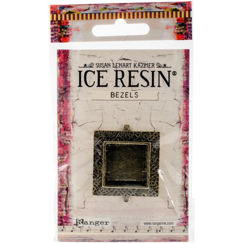Ranger - Ice Resin Milan Bezels - Closed Back Square Medium - Antique Bronze