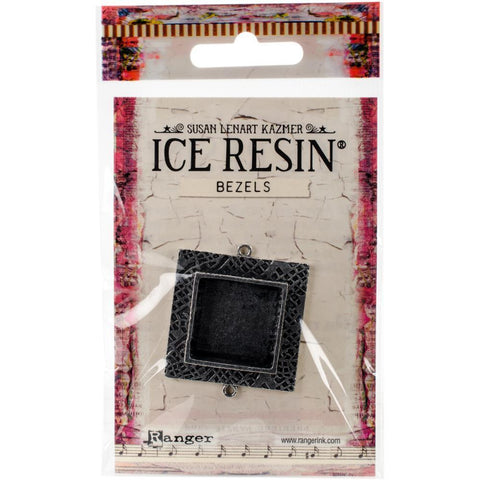 Ranger - Ice Resin Milan Bezels - Closed Back Square Medium - Antique Silver