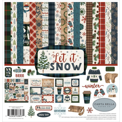 Carta Bella Collection Kit 12x12 inch - Let It Snow