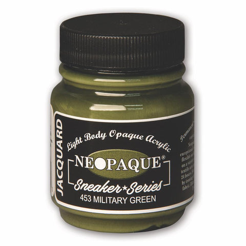Jacquard Neopaque Acrylic Paint 2.25oz - Sneaker Series - Military Green