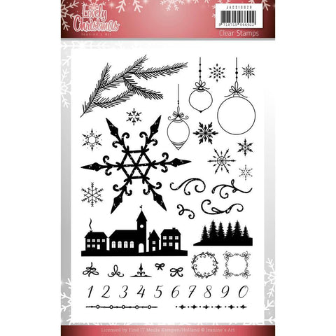 Find It Trading - Jeanines Art Clear Stamps - Lovely Christmas