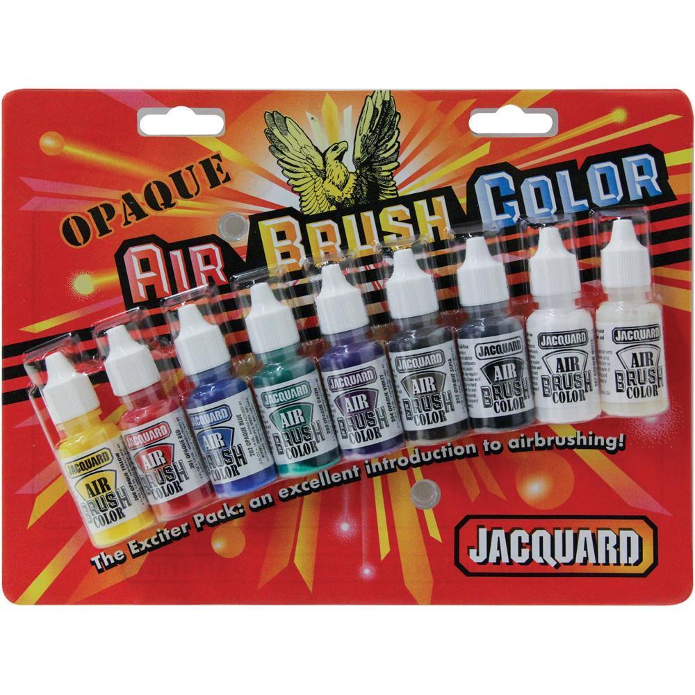 Jacquard Transparent Airbrush Exciter Pack .5oz 9 pack