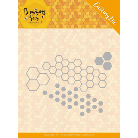 Find It Trading - Jeanines Art Die - Hexagon Set, Buzzing Bees