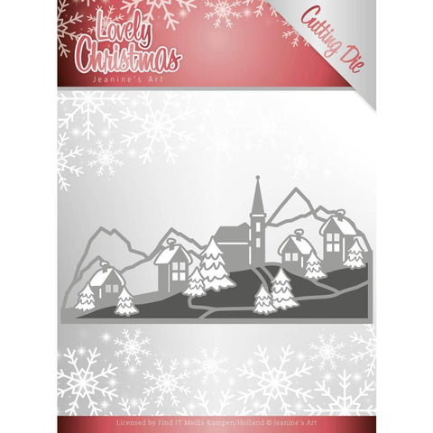 Find It Trading - Jeanines Art Die - Christmas Landscape, Lovely Christmas