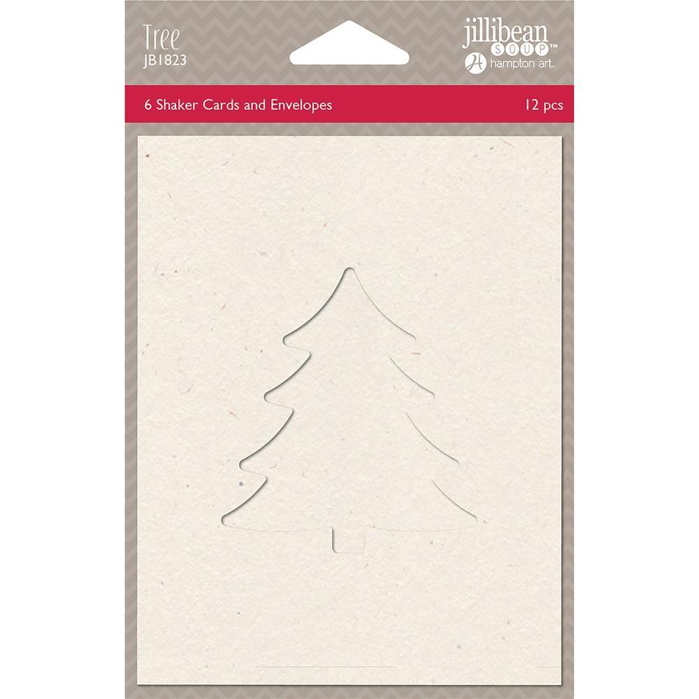 Jillibean Soup Shaker Cards with Envelopes 5.5 inch X4.25 inch 6 pack - Tree