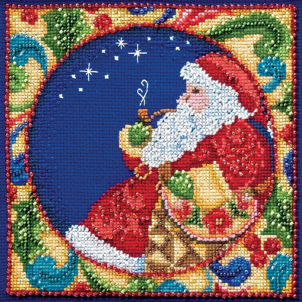 Mill Hill/Jim Shore Counted Cross Stitch Kit 5x5 inch - Santa (18 Count)
