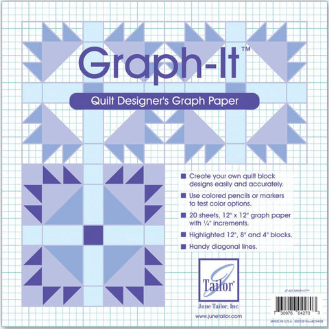June Tailor - Graph-It Graph Paper 12 inchX12 inch 20 pack