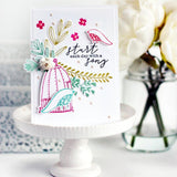 Pinkfresh Studio Clear Stamp Set 6x8 inch - Aviary