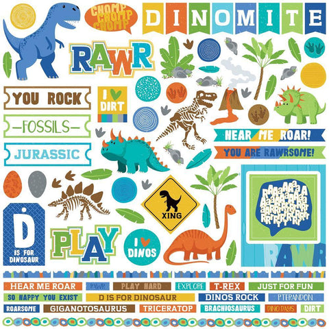 PhotoPlay - Jurassic Stickers 12x12 inch Element