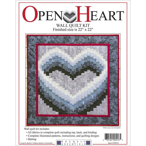 Rachels Of Greenfield - Wall Quilt Kit 22 inch X22 inch - Open Heart