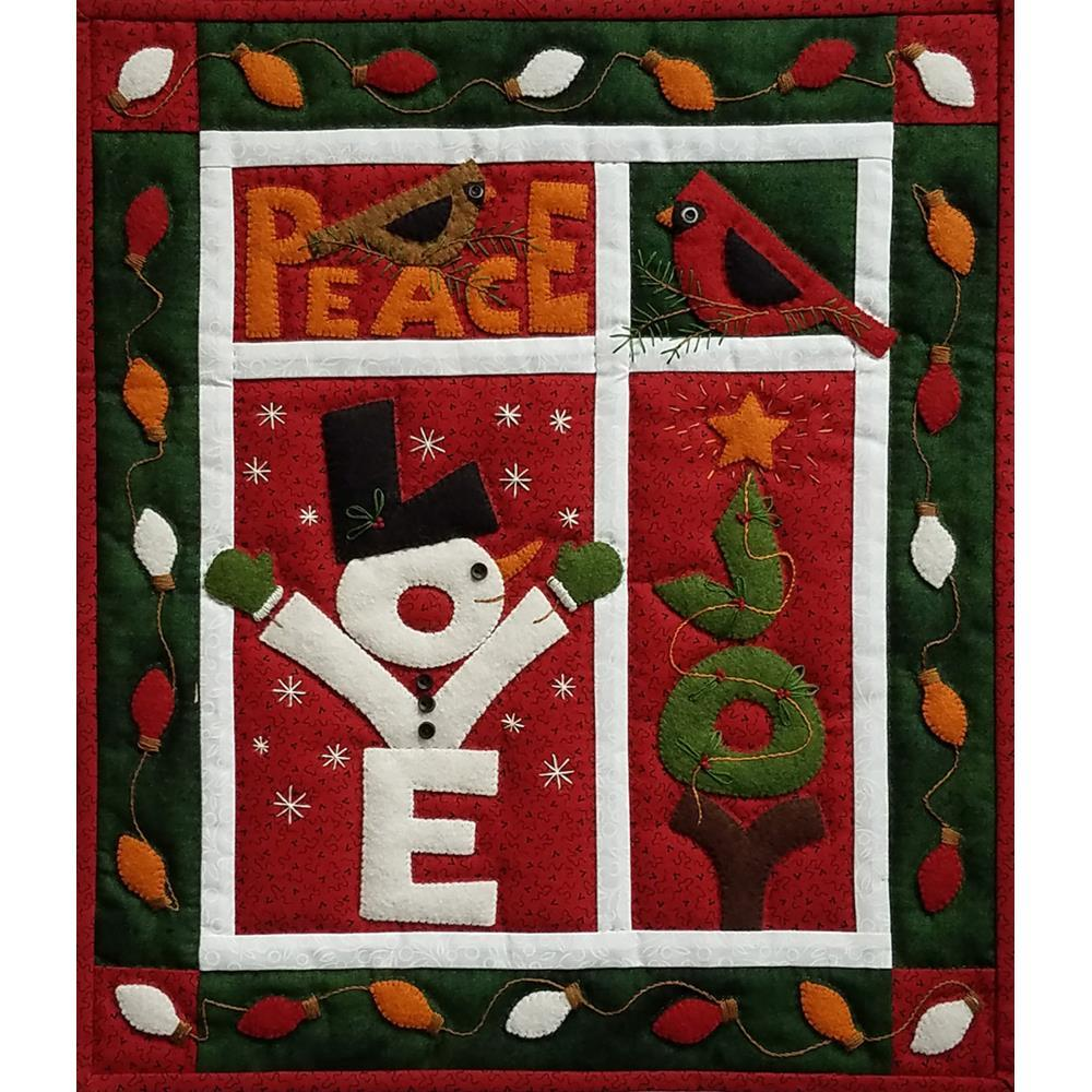 Rachels Of Greenfield - Wall Quilt Kit 15 inch X13 inch - Love, Joy & Peace