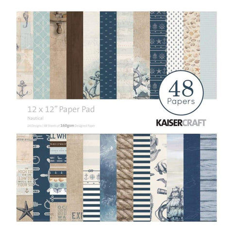 Kaisercraft Paper Pad 12X12 48 pack Nautical
