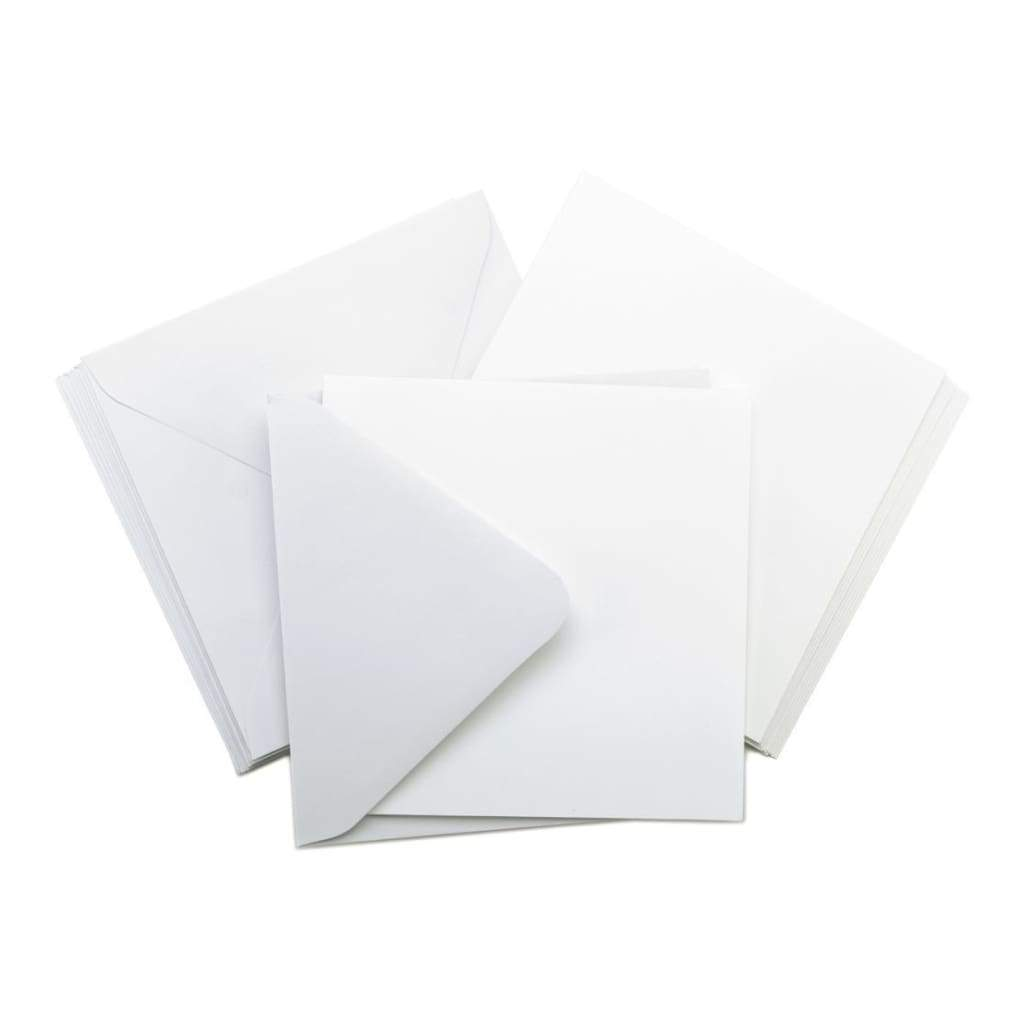 Kaisercraft Square Cards with Envelopes 5.5X5.5 10 pack White