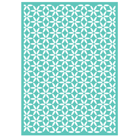 Cuttlebug 5 inch X7 inch Embossing Folder Kaleidoscope