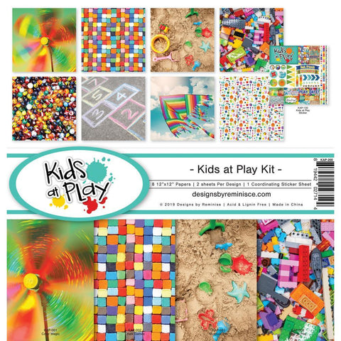 Reminisce Collection Kit 12x12 inch - Kids At Play