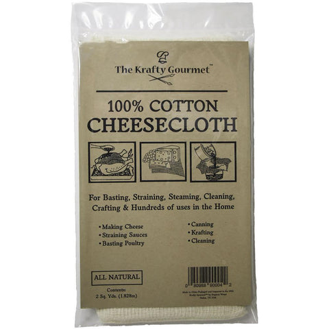 The Krafty Gourmet - Natural 100% Cotton Cheesecloth 2ydsx2yds