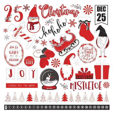 PhotoPlay Kringle & Co Stickers 12x12 inches - Elements