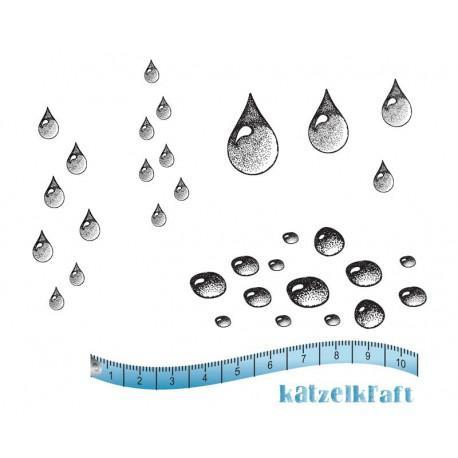 Katzelkraft - Water drops - Rubber stamp - French Style