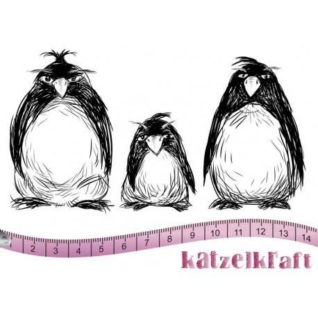 Katzelkraft - The Grumpy Penguins - Rubber stamp - French Style