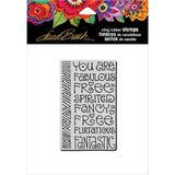 Stampendous Laurel Burch Cling Stamp - Fabulous