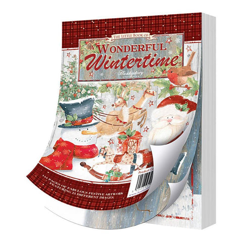 Hunkydory The Little Book Of A6 Paper Pad 144 pack - Wonderful Wintertime, 24 Designs/6 Each