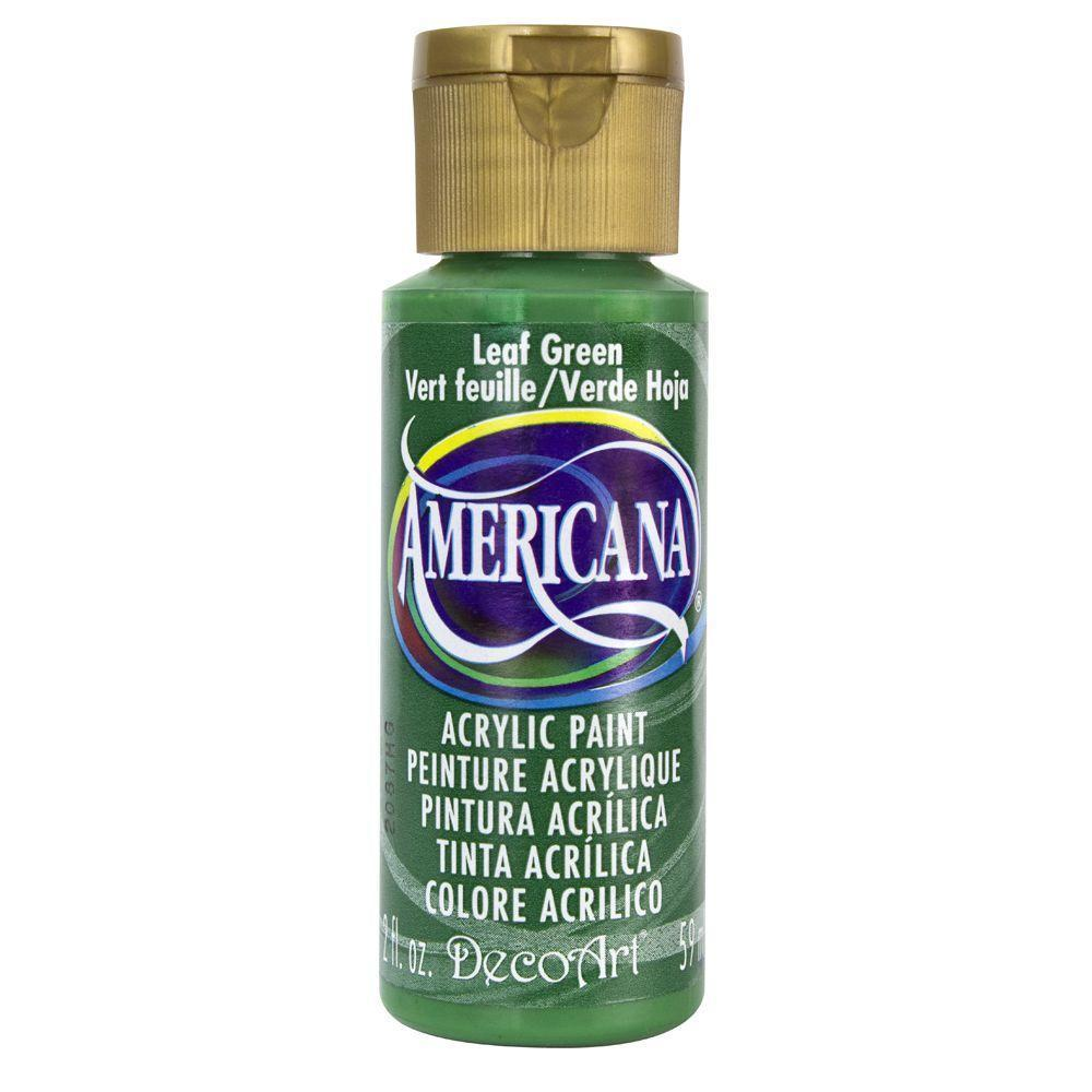 Americana Acrylic Paint 2oz - Leaf Green - Opaque
