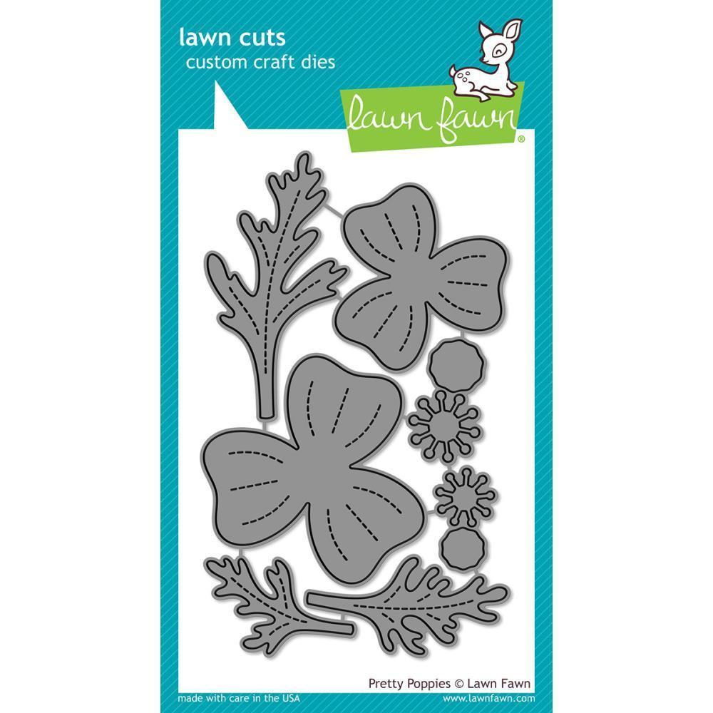 Lawn Cuts Custom Craft Die - Pretty Poppies