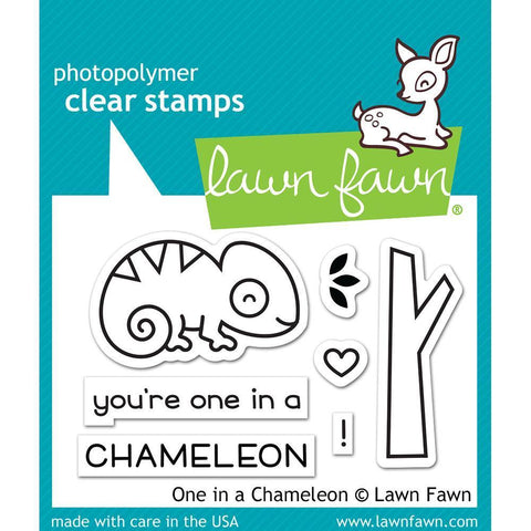 Lawn Fawn Clear Stamps 3x2 inch - One In A Chameleon