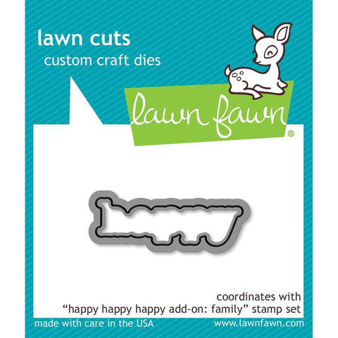 Lawn Cuts Custom Craft Die - Happy Happy Happy Add-On: Family