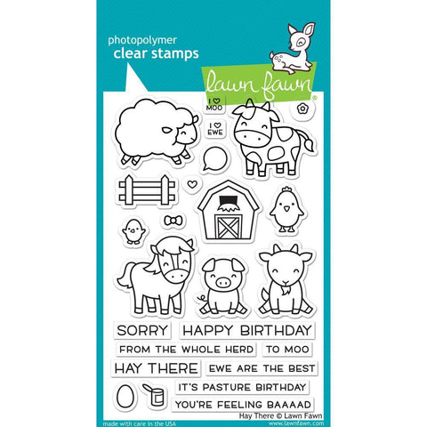 Lawn Fawn Clear Stamps 4x6 inch - Hay There