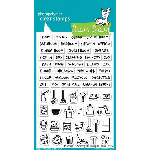 Lawn Fawn Clear Stamps 4x6 inch - Plan On It: Spring Cleaning