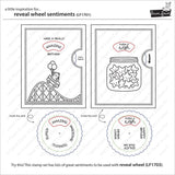 Lawn Fawn Clear Stamps 4 inch X6 inch Reveal Wheel Sentiments