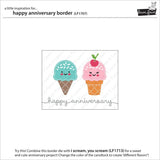 Lawn Cuts Custom Craft Die - Happy Anniversary Border
