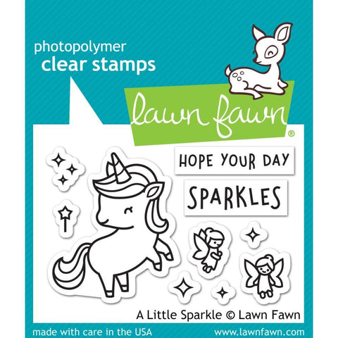 Lawn Fawn-Clear Stamps 3 inch X2 inch - A Little Sparkle