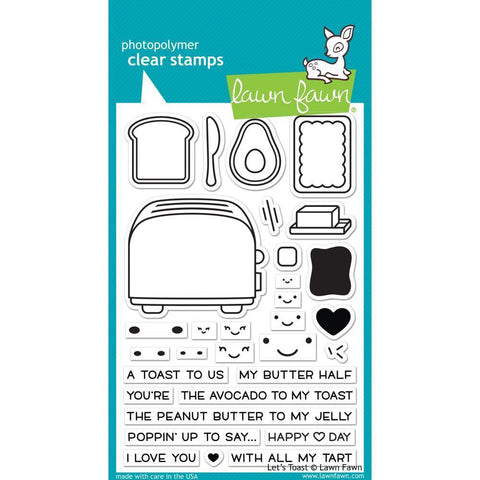 Lawn Fawn Clear Stamps 4x6 inch - Lets Toast