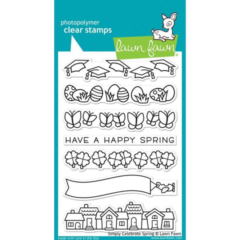 Lawn Fawn Clear Stamps 4 inch X6 inch Simply Celebrate Spring